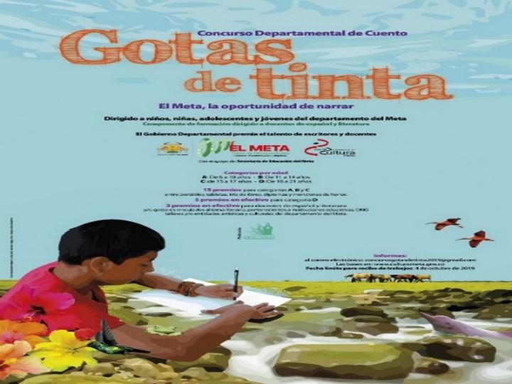 El Instituto de Cultura del Meta definió los finalistas de los concursos Gotas de Tinta y Trazos de Vida