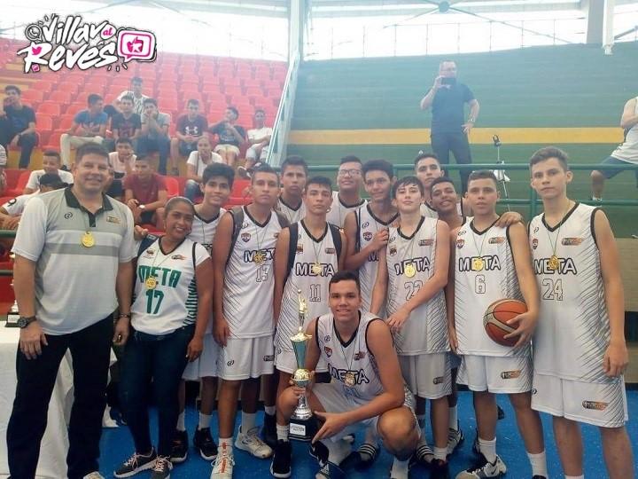 Liga de Baloncesto del Meta es subcampeón en certamen nacional Sub 15