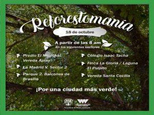 Gran 'Reforestatón' en conmemoración al Día Mundial del Árbol
