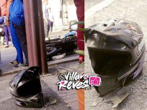 Siniestro vial en Villavicencio al parecer a causa de la alta velocidad del motociclista