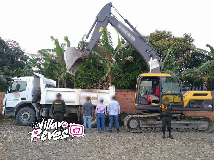 Tres personas fueron sorprendidas realizando actividades de minería ilegal en Fuentedeoro