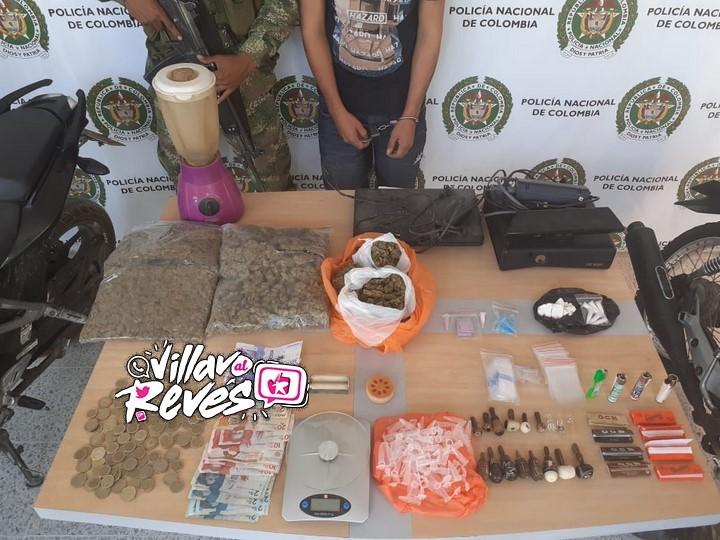 En Castilla la Nueva fue capturado un hombre que comercializaba base de coca y marihuana