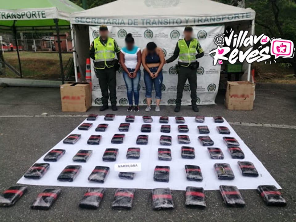 Se movilizaban hacia Villavicencio como pasajeras de un bus transportando 58 mil dosis de marihuana «Creepy»