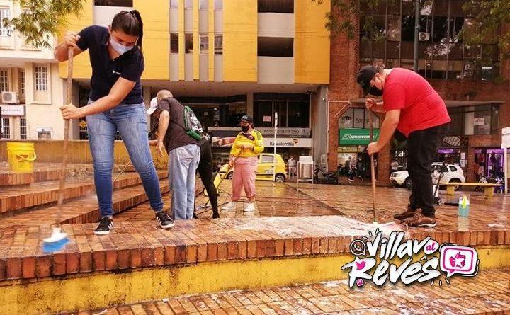 Alcaldía y comerciantes unidos para embellecer el Parque de Los Libertadores