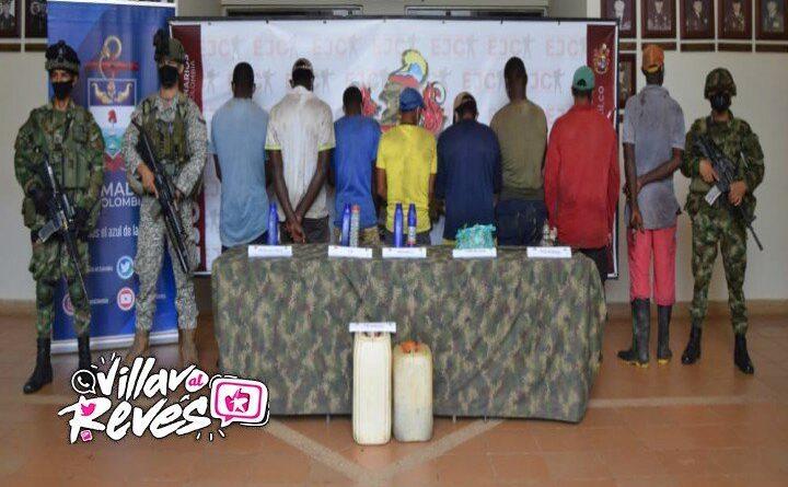 Ejército capturó ocho sujetos en laboratorio de procesamiento de coca