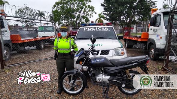 Una motocicleta fue inmovilizada por solicitud de un Juzgado de Villavicencio