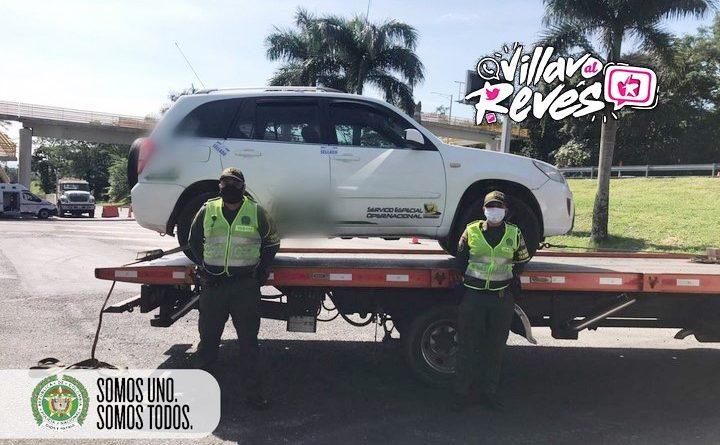 Una camioneta fue inmovilizada en el sector del peaje de Pipiral