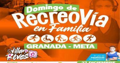 Recreovía en Granada -Meta contará con la participación de las diferentes ligas del departamento